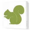 <strong>Avalisa</strong> Silhouettes Squirrel Stretched Canvas Art