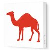 Avalisa Silhouettes Camel Stretched Canvas Art