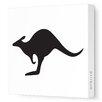 Avalisa Silhouettes Kangaroo Stretched Canvas Art