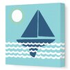 Avalisa Things That Go Sailing Stretched Canvas Art