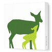 <strong>Animals Doe Stretched Canvas Art</strong> by Avalisa