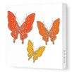 <strong>Animals Butterfly Stretched Canvas Art</strong> by Avalisa