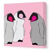 Avalisa Animals Baby Penguins Stretched Canvas Art