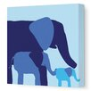 <strong>Animals Elephants Stretched Canvas Art</strong> by Avalisa