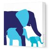 Avalisa Animals Elephants Stretched Canvas Art