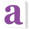 Avalisa Letter Lower Case Stretched Canvas Art