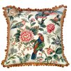 <strong>123 Creations</strong> Canton Garden 100% Wool Needlepoint Pillow