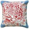 <strong>123 Creations</strong> Chrysanthemum 100% Wool Needlepoint Pillow