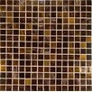 "Project Plus 13"" x 13"" Glass Mosaic in Mix Marrone Bronze"