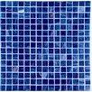 Casa Italia Bronze/Gold Monocolor Glass Mosaic in Blue Bronze