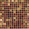"13"" x 13"" Glass Mosaic in Mix Rosso/Ramato"