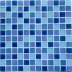Casa Italia Crystal-A Glass Mosaic in Sky Mix Frosted