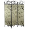 "<strong>Aspire</strong> ""72 x 57"" Kayla 3 Panel Room Divider"