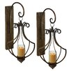 <strong>Aspire</strong> Ribley Metal and Glass Sconce (Set of 2)