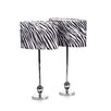 "<strong>Aspire</strong> Zebra 25"" H Table Lamp with Drum Shade (Set of 2)"