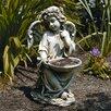 Roman, Inc. Sitting Angel Holding Decorative Bird Feeder