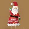 Roman, Inc. Lighted Santa Stake Yardart Christmas Decoration