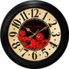 "<strong>Ashton Sutton</strong> Decorative Home 18"" Poppy Dial Wall Clock"