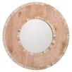 Jamie Young Company White Bone and Natural Wood Mandalay Round Mirror