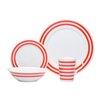 Red Vanilla Pure Vanilla Race Stripe 16 Piece Dinnerware Set