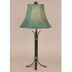 """Coast Lamp Mfg. Rustic Living Iron 25"""" H Accent Table Lamp with Bell Shade"""