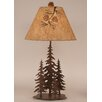 "Coast Lamp Mfg. Rustic Living Iron Pine Trees 33"" H Table Lamp with Empire Shade"
