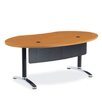Virco Plateau Ellipse Office Utility Table with Bi-Point Leg