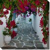 West of the Wind Outdoor Canvas Art Bougainvillea Path Photographic Print