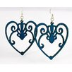 Green Tree Jewelry Scroll Heart Earrings