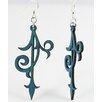 Green Tree Jewelry Scroll Ornament Earrings