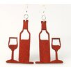 <strong>Green Tree Jewelry</strong> Wine and Glass Earrings