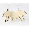 Green Tree Jewelry Polar Bears Earrings