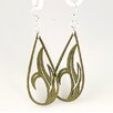 <strong>Green Tree Jewelry</strong> Grass Blade Drop Earrings