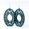 <strong>Green Tree Jewelry</strong> Decorative Ovals Earrings