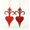 Green Tree Jewelry Rooted Fleur de Lis Earrings