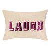D.L. Rhein Laugh Embroidered Decorative Pillow