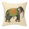 D.L. Rhein Mumbai Elephant Embroidered Decorative Pillow