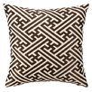 <strong>D.L. Rhein</strong> Cross Hatch Down Filled Embroidered Linen Pillow
