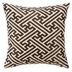 D.L. Rhein Cross Hatch Down Filled Embroidered Linen Pillow