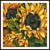 Printfinders Brilliant Sunflowers by Debra Bucci Framed Painting Print