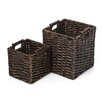 <strong>New Rustics Home</strong> Patina Square Water Hyacinth 2 Piece Basket Set