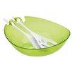 Koziol Shadow 3 Piece Salad Bowl & Server Set