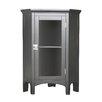 Elegant Home Fashions Madison Avenue Dark Free Standing Corner Cabinet