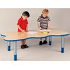 "TotMate ""My Place"" Activity Rectangular Geometric Classroom Table"