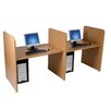 Teak H Study Carrel Add On