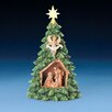 Fontanini LED Christmas Tree with Holy Family and Gloria Figurine