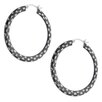<strong>Etched Hoop Earrings</strong> by Moise