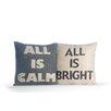 Alexandra Ferguson 2 Piece All is Calm/All is Bright Pillow Set
