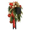 Distinctive Designs Mailbox Saddle Pine and Fir Boughs Seed Berries Ornaments and Ribbon