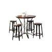Hokku Designs Darkotia 5 Piece Pub Table